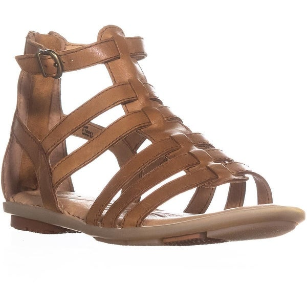 Born Tripoli Flat Gladiator Comfrot Sandals, Light Brown