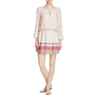 Sanctuary Womens Casual Dress Printed Lace-Up