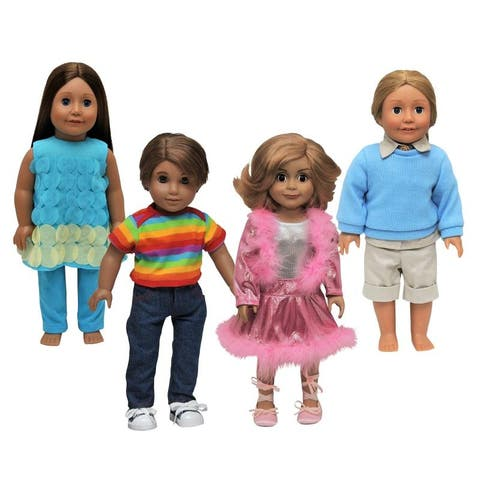 """18"""" Doll Clothes Set of 4 Different High Quality Outfits That Fit American Girl Dolls"""