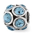 Sterling Silver Reflections December Swarovski Elements Bead (4mm Diameter Hole) - Thumbnail 0