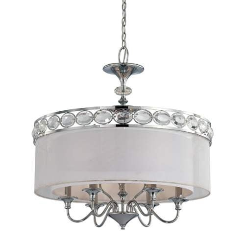 Eurofase Lighting 20297 Bijoux 9 Light Pendant with Drum Shade and Crystal Accents - Thumbnail 3