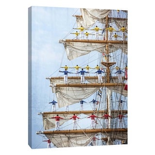 "PTM Images 9-105971  PTM Canvas Collection 10"" x 8"" - ""Men in Tall Ship Mast"" Giclee Men and Women Art Print on Canvas"