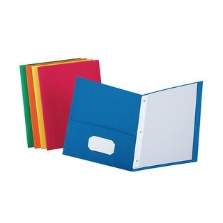 Oxford Folder with Fasteners, 2-Pocket With Prongs, Assorted Colors, Pack of 25