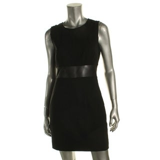 Elizabeth and James Womens Jackie Cocktail Dress Mesh Inset Sleeveless - 4