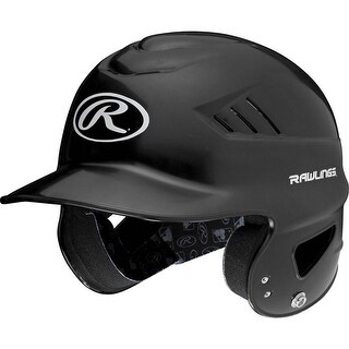 Rawlings Adult Coolflo Molded Batting Helmet (Option: Black)