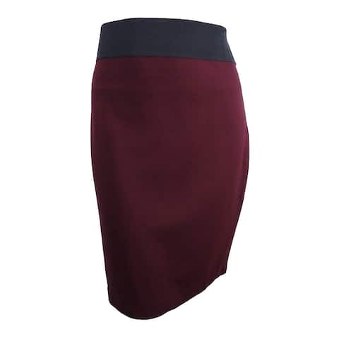 INC International Concepts Women's Curvy-Fit Pencil Skirt (XXL, Dark Mahogany) - Dark Mahogany - XXL