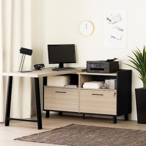 South Shore Kozack L-Shaped Desk with Power Bar