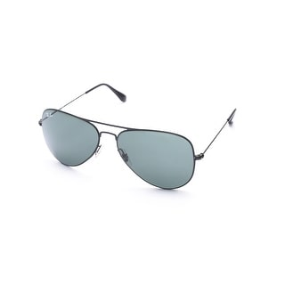 Ray-Ban Aviator Flat Metal Sunglasses Black - Small