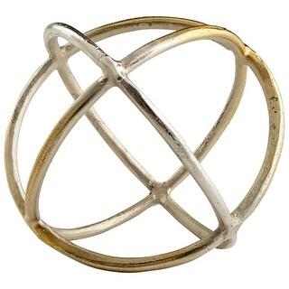 "Cyan Design 08161  Jacks 7"" Diameter Aluminum Decorative Sphere - Nickel"
