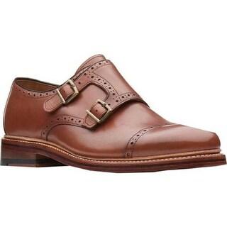 Bostonian Men's Somerville Mix Monkstrap Cognac Full Grain Leather