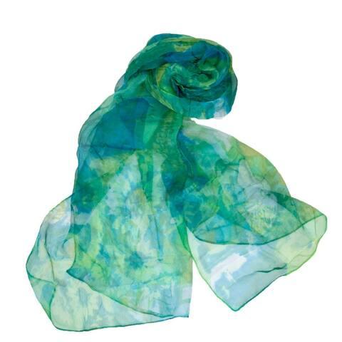 Zodaca Women Ladies Fashion Lightweight Silk Scarf Neck Scarves Shawl Wrap - Green