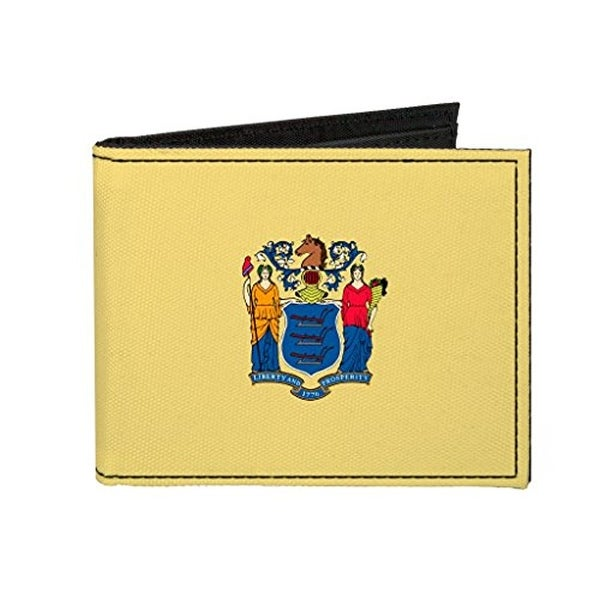 Buckle-Down Canvas Bi-fold Wallet - New Jersey Flag Accessory