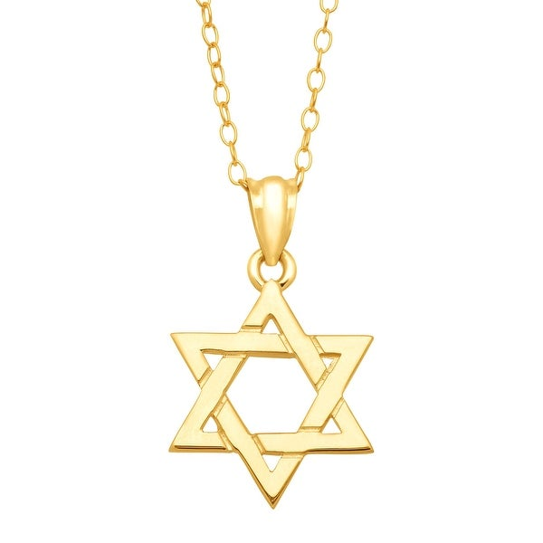 Just Gold Star of David Pendant in 10K Gold - Yellow