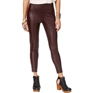 Free People Womens Casual Pants Faux Leather Skinny