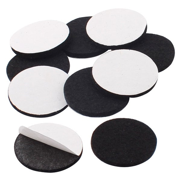 Household Self Adhesive Protect Furniture Felt Pads Mats Black 30mm 10pcs On Free Shipping Orders Over 45 17650495