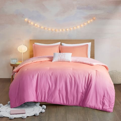 Sparkle Metallic Glitter Printed Reversible Comforter Set by Mi Zone