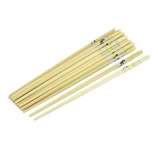 Unique Bargains Bamboo Flower Pattern Tableware Chinese Style Meal Chopsticks 10 Pairs
