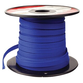 "Pipemans Expandable Braided Sleeve 1/4"" Blue"