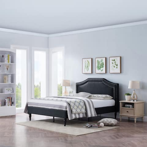 Fairlane Queen Sized Upholstered Bed by Christopher Knight Home