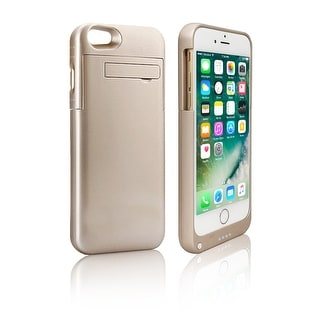 Indigi® Stylish Gold Rechargeable Juice Pack External Battery Case - iPhone 7 Plus - Gold - High Capacity 4000mAh