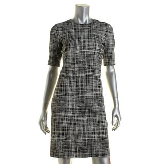 Theory Womens Rajik B Pattern Sheath Wear to Work Dress