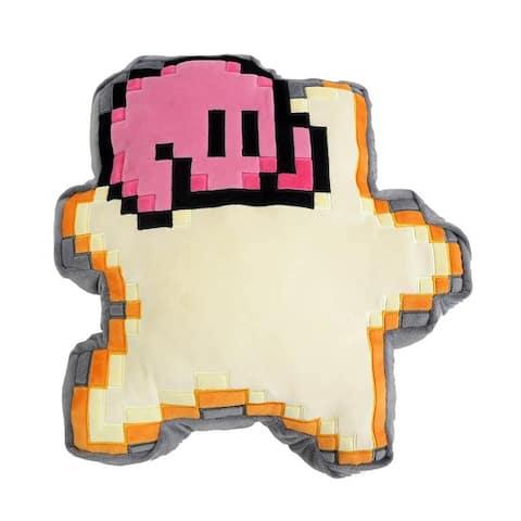Kirby Nintendo 14 Inch Pillow Plush - 8 Bit Star w/ Kirby - Multi