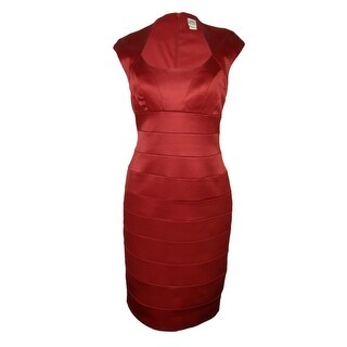 Sangria Women's Cap Sleeve Satin Dress