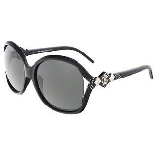 Roberto Cavalli RC 674/S FLY Black Round Sunglasses