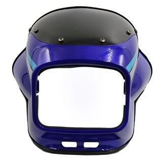 Blue Black ABS Plastic Motorcycle Front Headlight Cover Fairing Mask for ZB