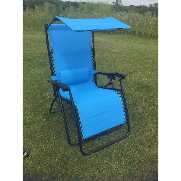 Styled Shopping Oversized Extra Large Zero Gravity Chair with Canopy and Tray - Free Shipping Today - Overstock.com - 16446610  sc 1 st  Overstock.com & Styled Shopping Oversized Extra Large Zero Gravity Chair with ...