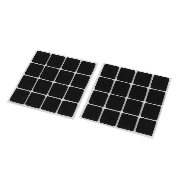Unique Bargains 32pcs Self Adhesive Floor Protectors Furniture Felt Square  Chair Sofa Table Pads