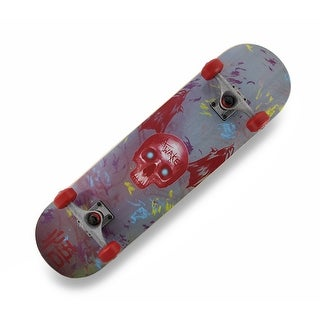 Canadian Maple Skateboard Skull Wing Graphics/Black Grip Tape Top - Multicolored
