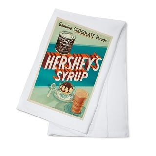 USA - Hershey's Syrup - (c. 1935) - Vintage Advertisement (100% Cotton Towel Absorbent)