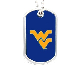 West Virginia Mountaineers Dog Tag Domed Necklace Charm Chain NCAA