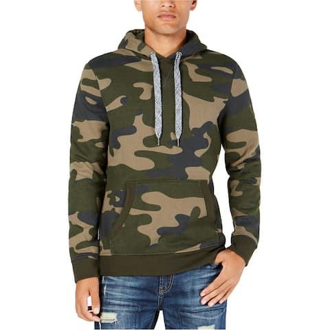 American Rag Mens Camo Hoodie Sweatshirt, Green, X-Large