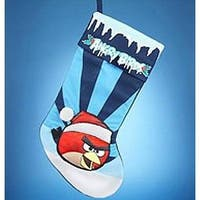 "Angry Birds 19"" Red Bird Applique Stocking"