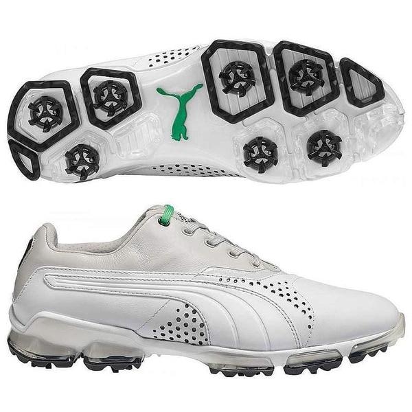 fe558a1c9168cb Shop Puma Men s Titan Tour White Grey  Violet Golf Shoes 188056-04 - Free  Shipping Today - Overstock - 19459727