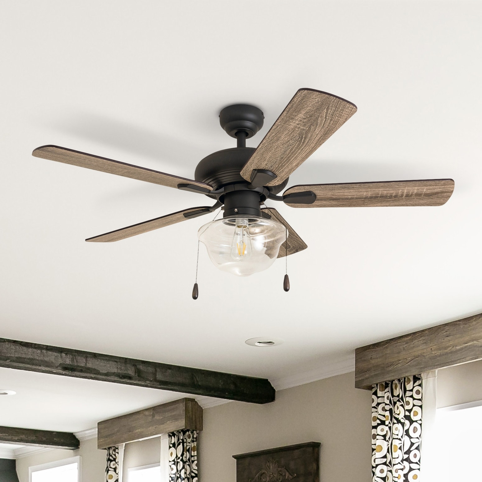 Inch Coastal Indoor Led Ceiling Fan