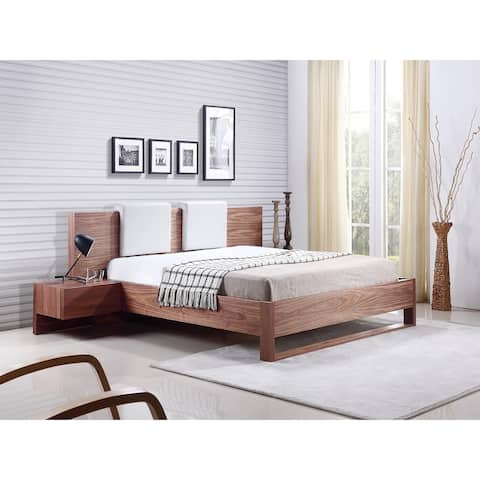 Bay Collection Walnut Veneer Queen Bed