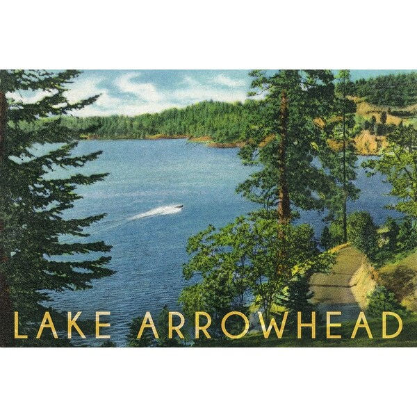 Lake Arrowhead CA North Shore LP Artwork (Poker Playing Cards Deck)