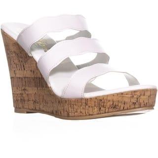 17554d7c0bd7f callisto Flure Triple Strap Wedge Sandals