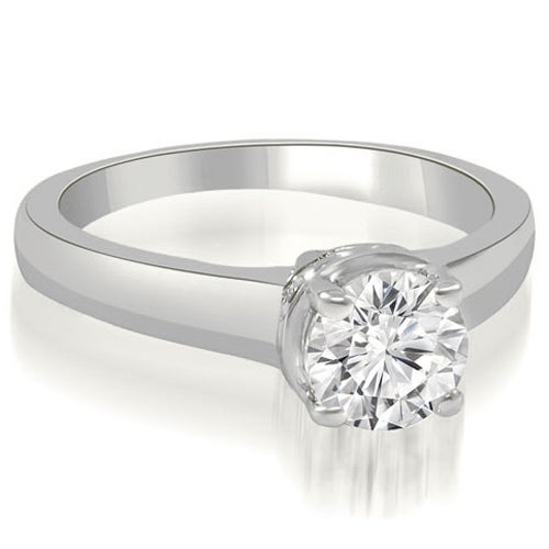 0.50 cttw. 14K White Gold Lucida Round Cut Diamond Solitaire Engagement Ring