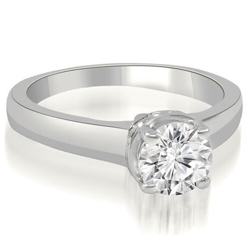 1.00 cttw. 14K White Gold Lucida Round Cut Diamond Solitaire Engagement Ring