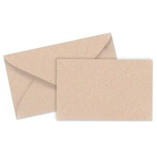 "Pack Of 100, Solid Kraft Enclosure Cards & Envelopes Combo Pack Card 3-1/2 x 2-1/4"" - Envelope 4-1/4"" x 20.5"""