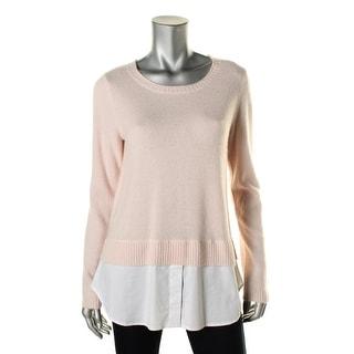 Private Label Womens Cashmere Layered Pullover Sweater - L