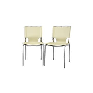 Montclare Ivory Bonded Leather Dining Chair - 2 Chairs