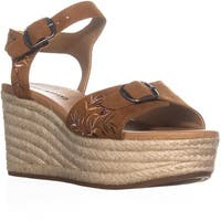 Lucky Brand Naveah Wedge Buckle Sandals, Peanut - 9 us / 39 eu