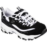 Skechers Women's D'Lites Sneaker Biggest Fan/Black/White