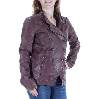 LUCKY BRAND $499 Womens New 1330 Brown Pocketed Motorcycle Casual Coat M B+B