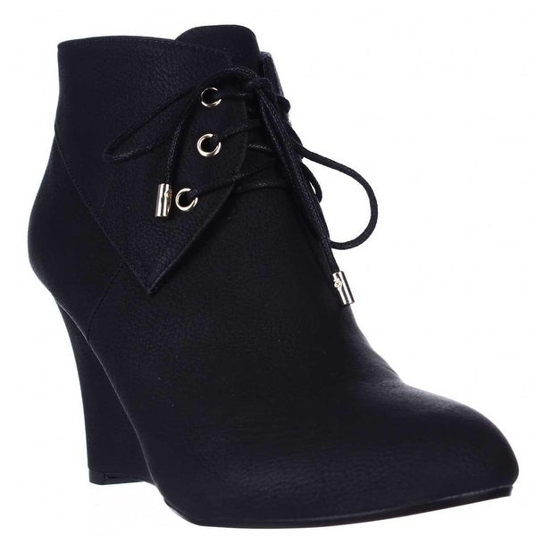 TS35 Noa Wedge Ankle Boots, Black